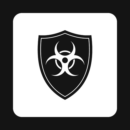 plutonium: Radioactive sign icon in simple style isolated on white background. Danger symbol