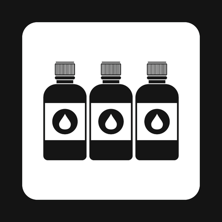 printer ink: Printer ink bottles icon in simple style on a white background