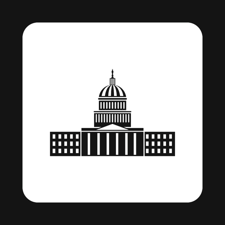 senate elections: Capitol icon in simple style isolated on white background. State symbol