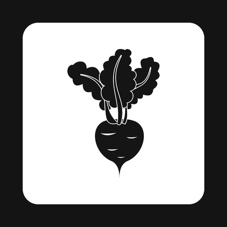 turnip: Turnip icon in simple style isolated on white background. Vegetables symbol Illustration