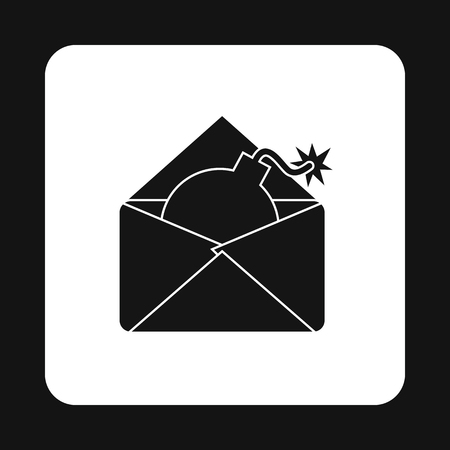 cracking: Hacking e-mail icon in simple style isolated on white background. Cracking symbol