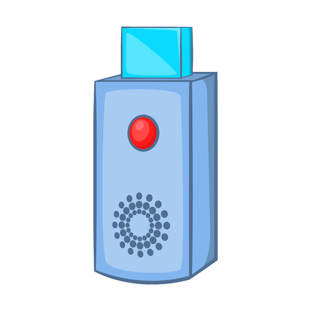 microdrive: USB flash drive icon in cartoon style on a white background Illustration