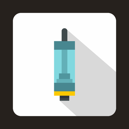 perfume atomizer: Electronic cigarette cartridge icon in flat style on a white background Illustration