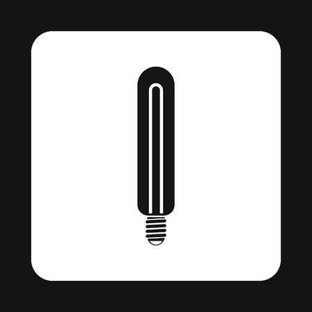 kilowatt: Energy efficient sodium lamp icon in simple style on a white background