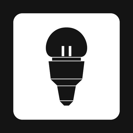 led bulb: LED bulb icon in simple style on a white background