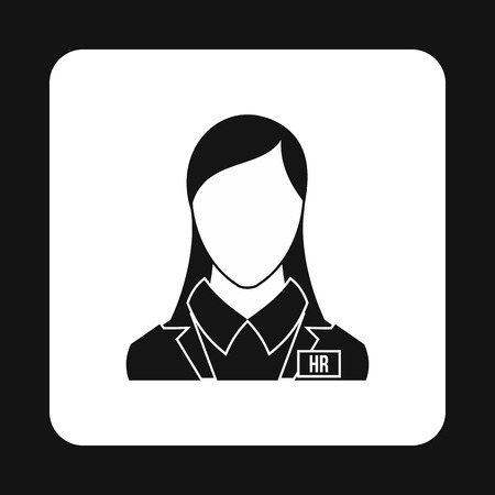 Hr manager icon in simple style on a white background Illustration