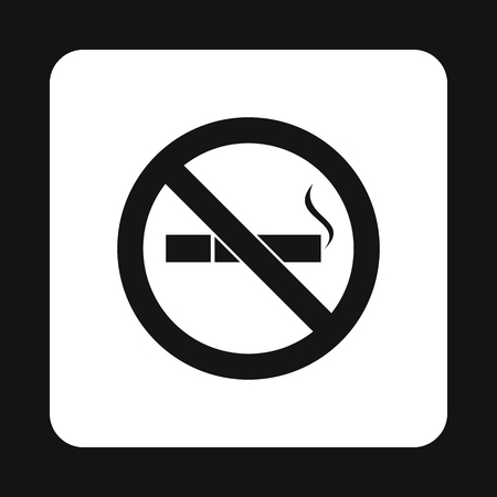 non toxic: No smoking sign icon in simple style on a white background