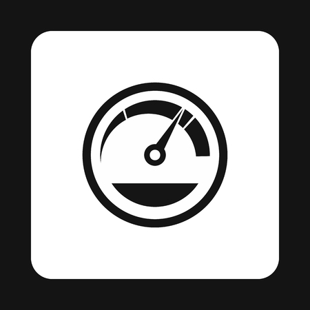 tachometer: Tachometer icon in simple style on a white background