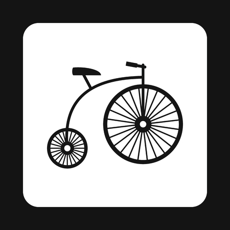 oldfield: Retro bike icon in simple style isolated on white background. Riding symbol Illustration
