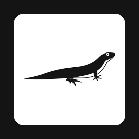 reptiles: Little lizard icon in simple style isolated on white background. Reptiles symbol