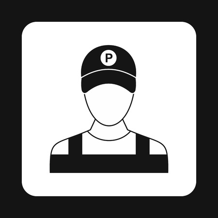 valet: Man valet icon in simple style isolated on white background. People symbol