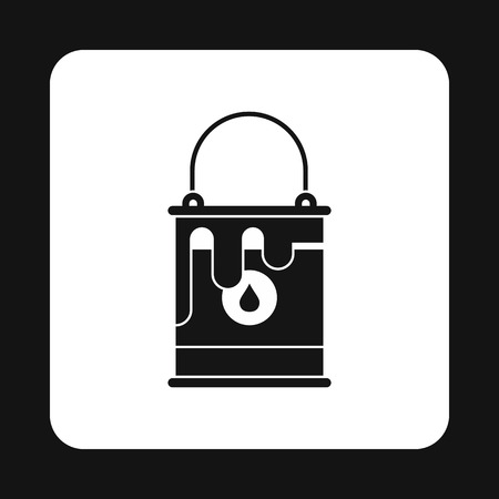 paint can: Paint can icon in simple style on a white background