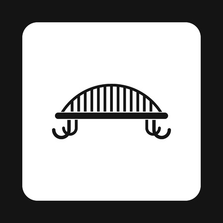 bench alone: Park bench icon in simple style on a white background