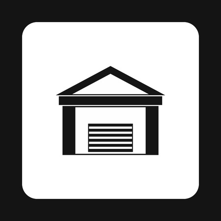 warehouse building: Warehouse building icon in simple style on a white background Illustration