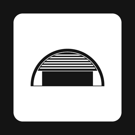hangar: Hangar icon in simple style on a white background Illustration