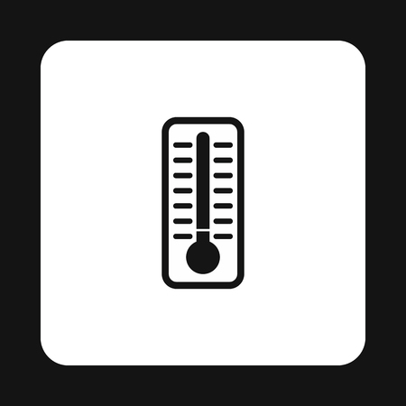 extremely: Thermometer indicates extremely low temperature icon in simple style on a white background