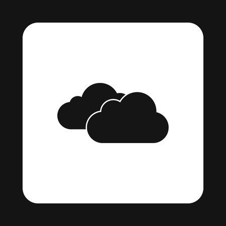 Clouds icon in simple style on a white background