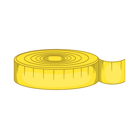 Measuring tape i icon in cartoon style isolated on white background Illustration