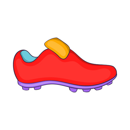football boots: Football boots icon in cartoon style isolated on white background. Shoes symbol Illustration