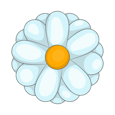fragrant bouquet: Daisy icon in cartoon style isolated on white background. Flora symbol