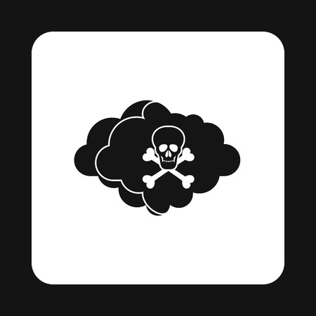 nuclear fission: Deadly air icon in simple style isolated on white background. Danger symbol