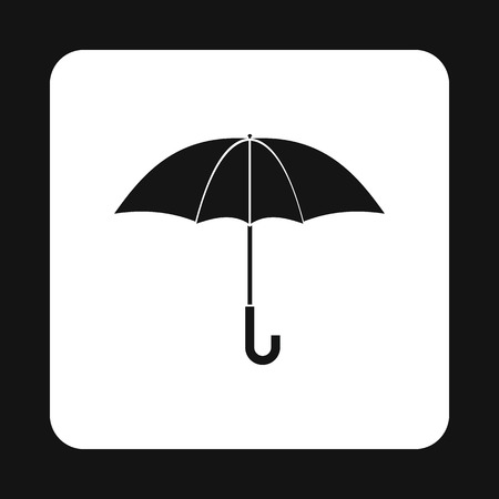 nylon: Umbrella icon in simple style isolated on white background. Accessory symbol Illustration