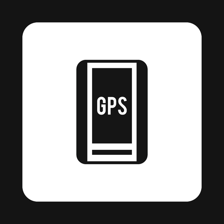 handheld device: Handheld JPS icon in simple style isolated on white background. Navigation symbol
