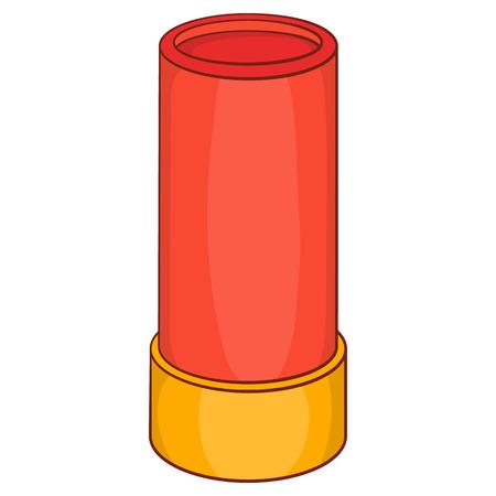 shotgun: Shotgun shell icon in cartoon style on a white background