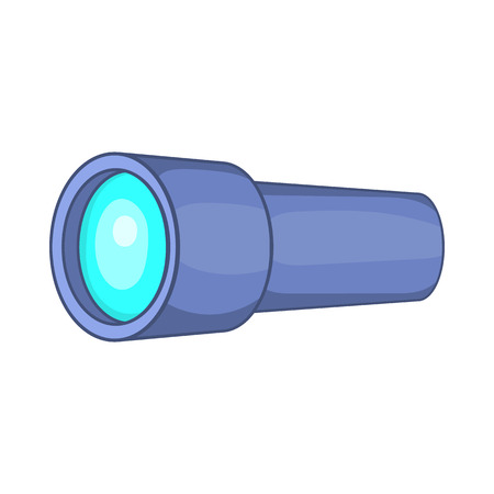 eyepiece: Monocular icon in cartoon style on a white background