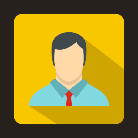 Buisnessman icon in flat style isolated with long shadow Illustration