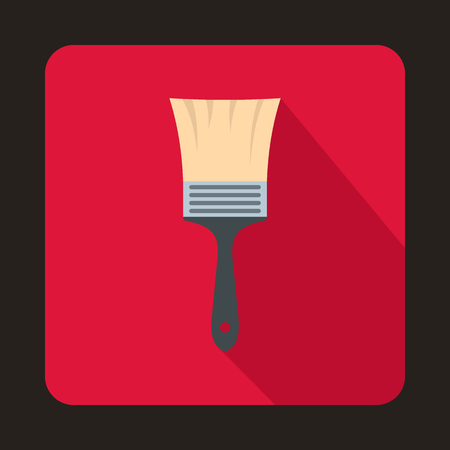 reconditioning: Paint brush icon in flat style isolated with long shadow