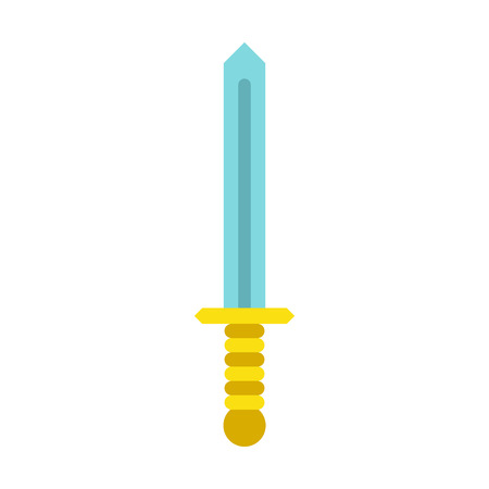 longsword: Sword icon in flat style on a white background vector illustration Illustration