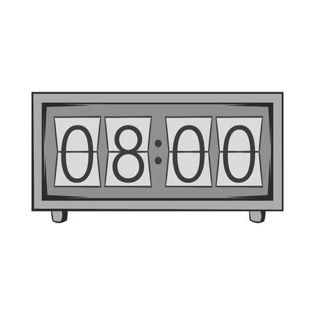 analog dial: Electronic watch icon in black monochrome style isolated on white background. Time symbol. Vector illustration
