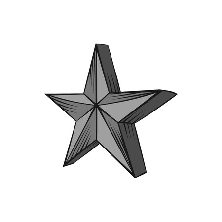 big star: Big star icon in black monochrome style isolated on white background. Figure symbol. Vector illustration