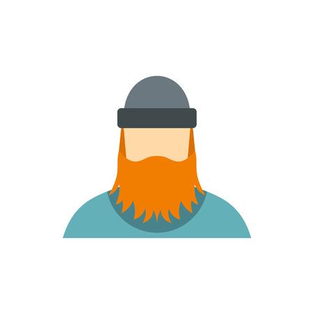 logging: Lumberjack icon in flat style isolated on white background. Employee symbol vector illustration