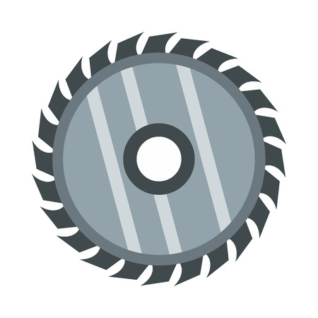 timber cutting: Drive for saw icon in flat style isolated on white background. Cutting symbol vector illustration Illustration