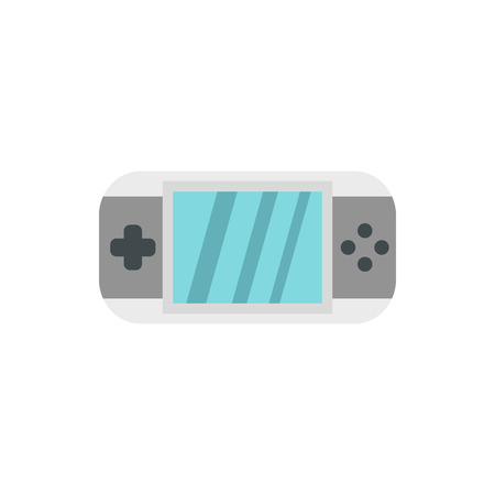 psp: PSP icon in flat style isolated on white background. Play symbol vector illustration