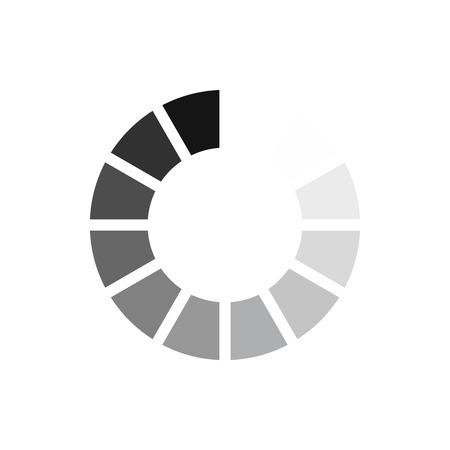 白い背景で隔離のフラット スタイルのインターネット アイコンをサイン待ってダウンロード。シンボル ベクトル図の読み込み  イラスト・ベクター素材
