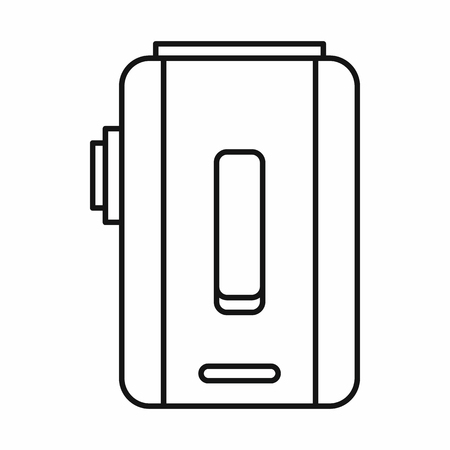 mod: Box mod e-cigarette icon in outline style isolated on white background vector illustration