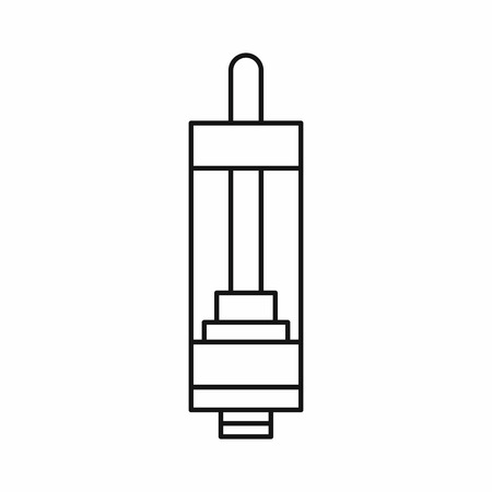 E-cigarette or vaping device icon in outline style isolated on white background vector illustration