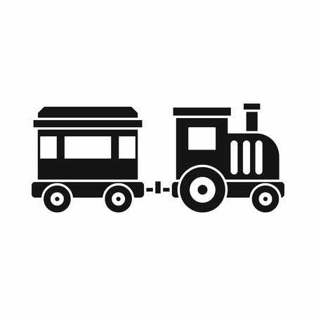 loco: Toy trainin simple style isolated on white background vector illustration