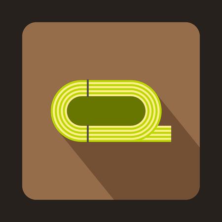 Stadium athletics icon in flat style with long shadow. Championship symbol vector illustration