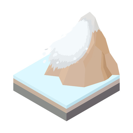 avalanche: Avalanche icon in cartoon style on a white background vector illustration