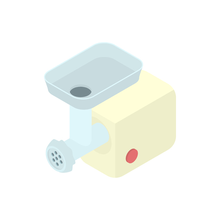 meat chopper: Electric meat grinder icon in cartoon style on a white background vector illustration