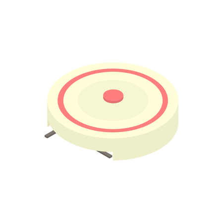 single coil: Electric portable stove icon in cartoon style on a white background vector illustration