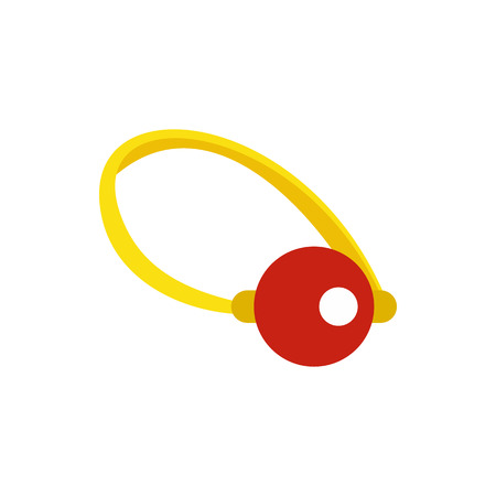 ballyhoo: Clown nose icon in flat style isolated on white background. Joke symbol vector illustration Illustration