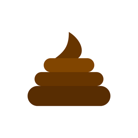 Turd icon in flat style isolated on white background. Joke symbol vector illustration