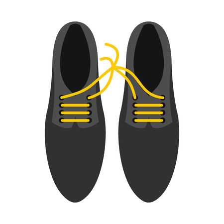jest: Tied laces on shoes icon in flat style isolated on white background. Joke symbol vector illustration Illustration