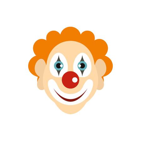 jest: Clown icon in flat style isolated on white background. Joke symbol vector illustration Illustration