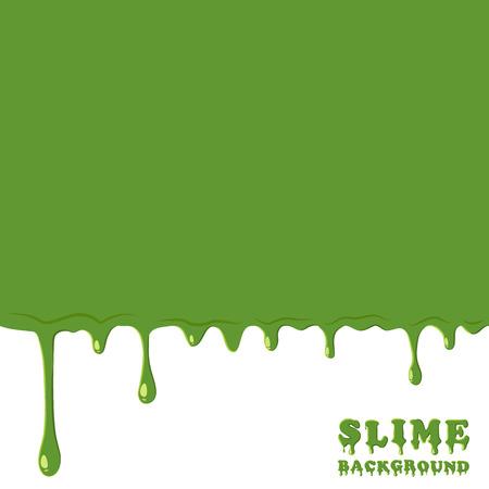 slime: Green slime background. Dripping, oozing slime vector illustration